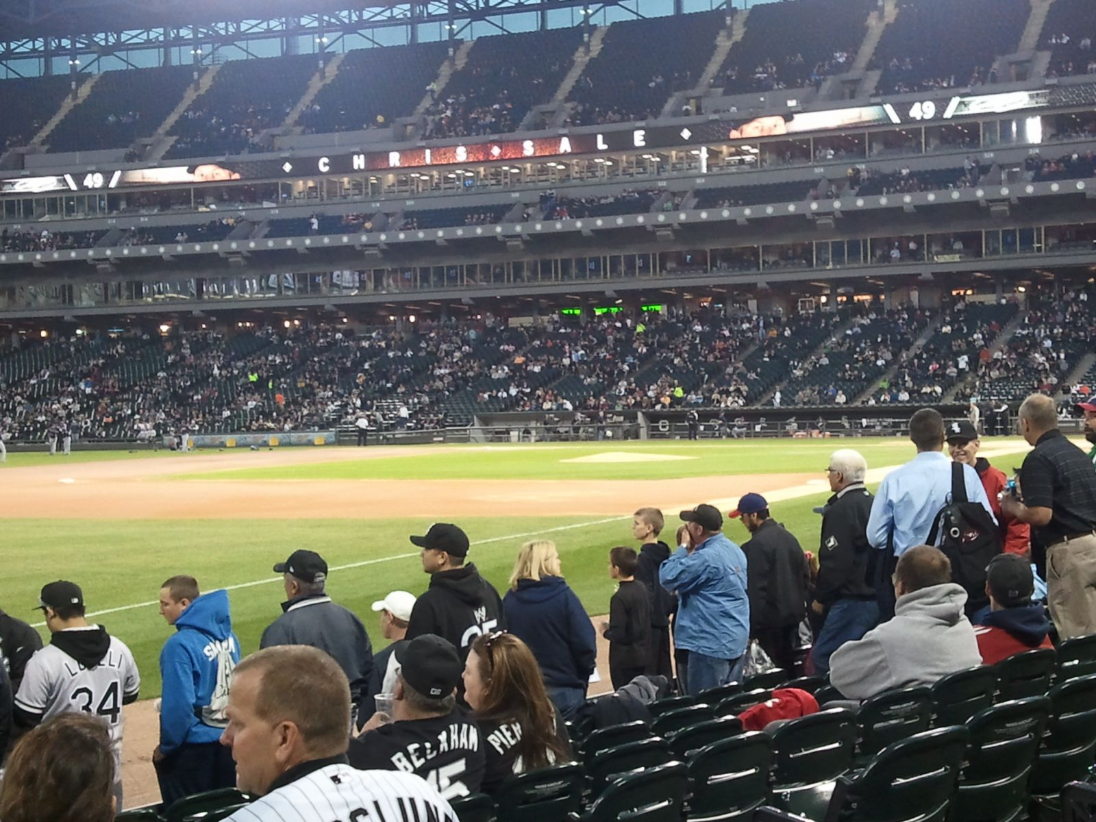 Seat View for Guaranteed Rate Field Section 148, Row 8