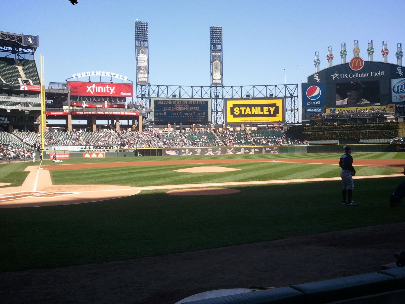 Seat View for Guaranteed Rate Field Section 128, Row 4
