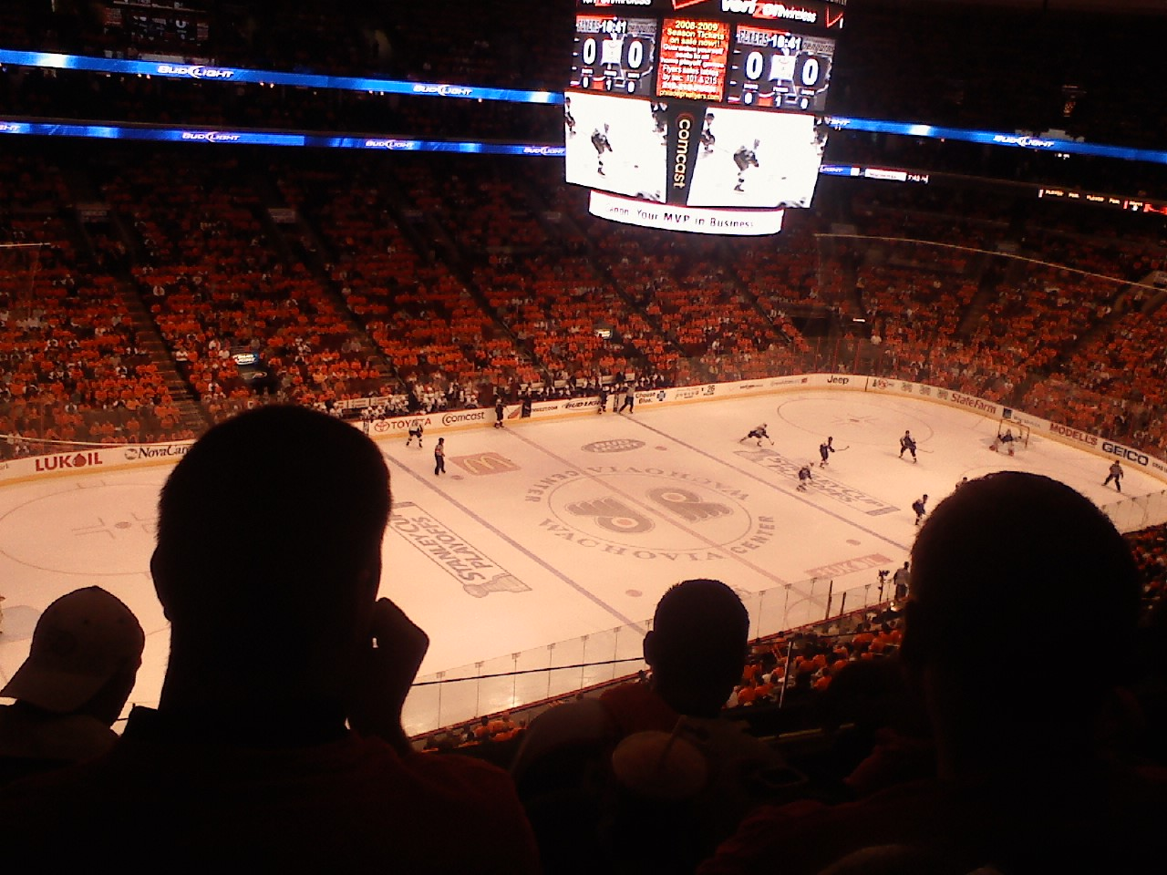 Philadelphia Flyers Seat View for Wells Fargo Center Section 210A, Row 4, Seat 4