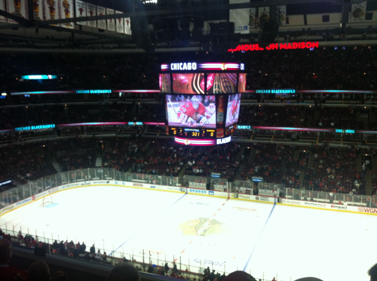 Chicago Blackhawks Seat View for United Center Section 316, Row 5, Seat 9