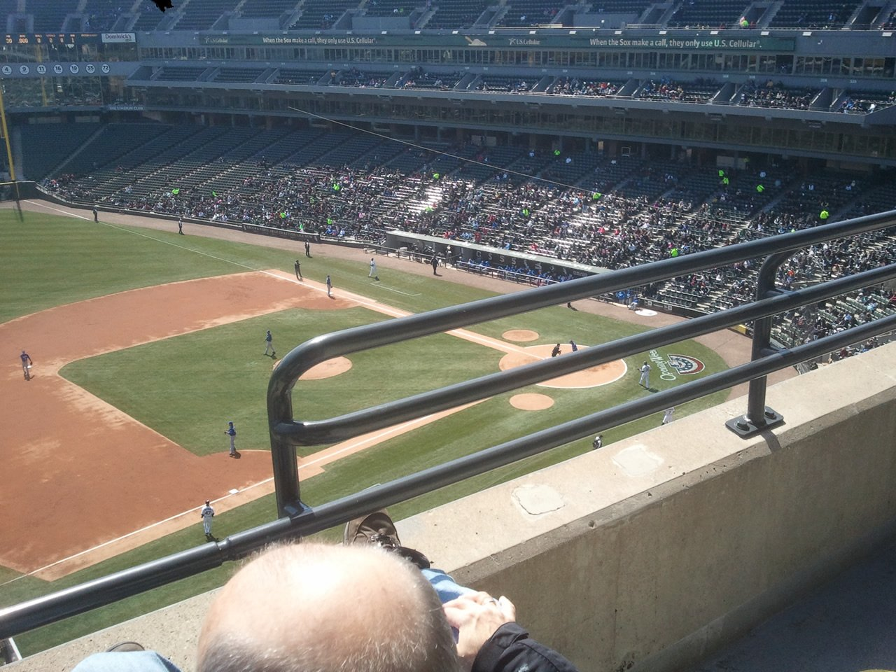 Seat View for Guaranteed Rate Field Section 544, Row 2, Seat 1