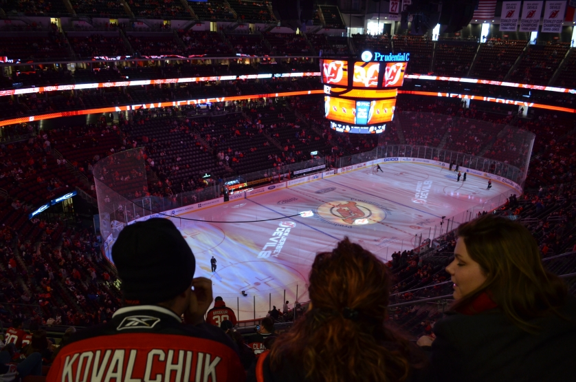 New Jersey Devils Seat View for Prudential Center Section 124, Row 11, Seat 3