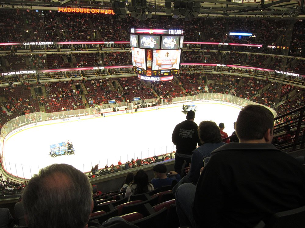 Chicago Blackhawks Seat View for United Center Section 320, Row 8, Seat 5