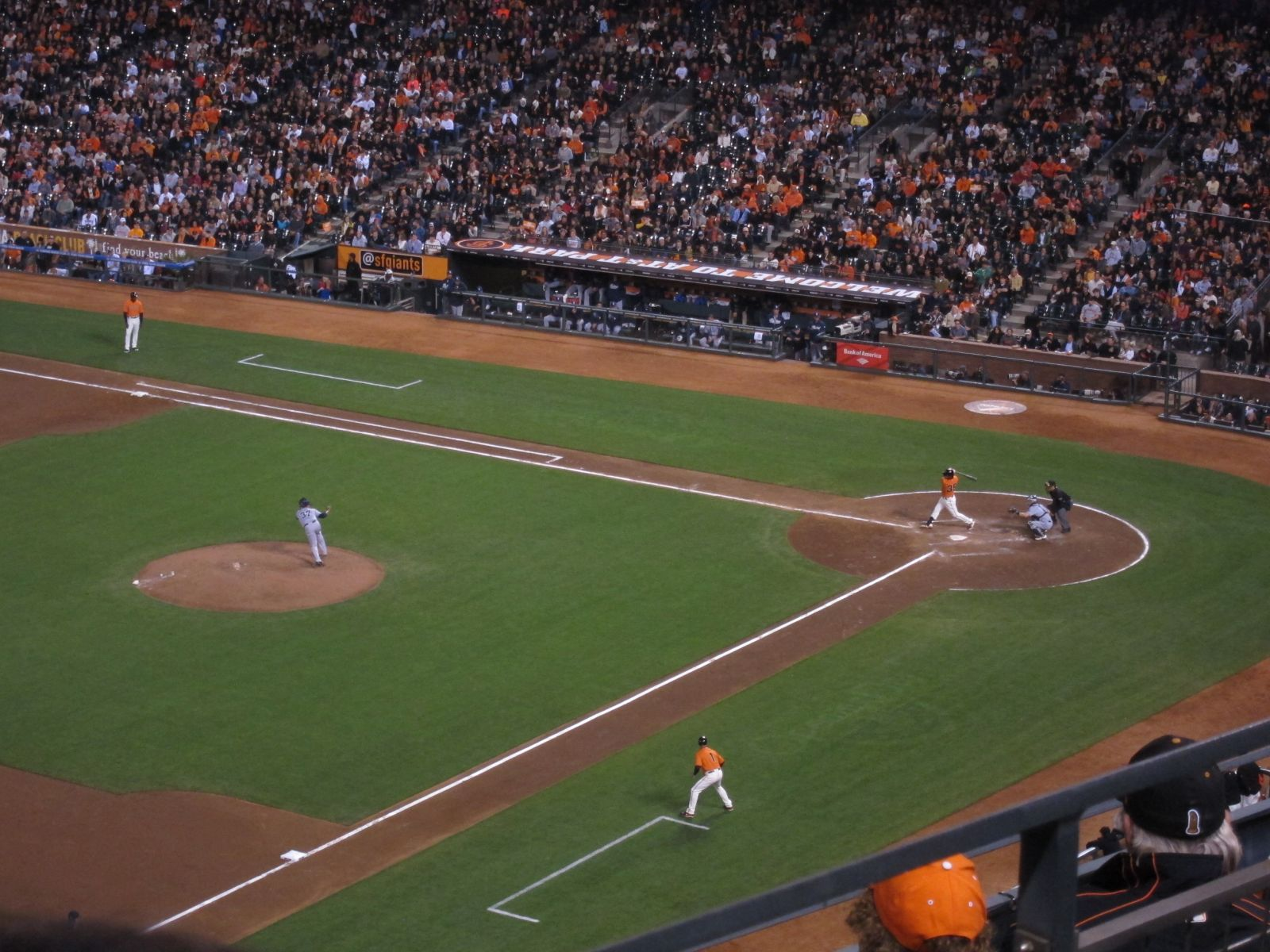 San Francisco Giants Seat View for AT&T Park Section 328, Row 1, Seat 16