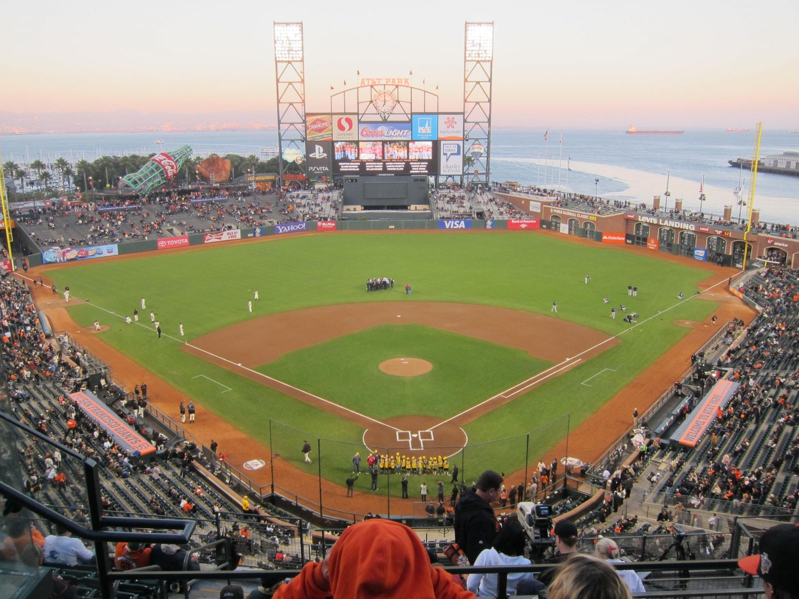 San Francisco Giants Seat View for AT&T Park Section 315, Row 2, Seat 15
