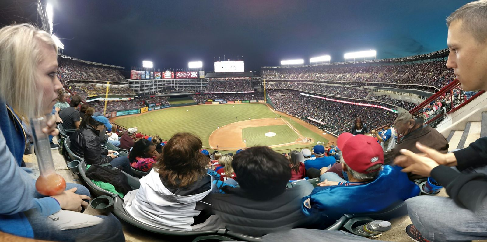 Seat View for Globe Life Park Section 319
