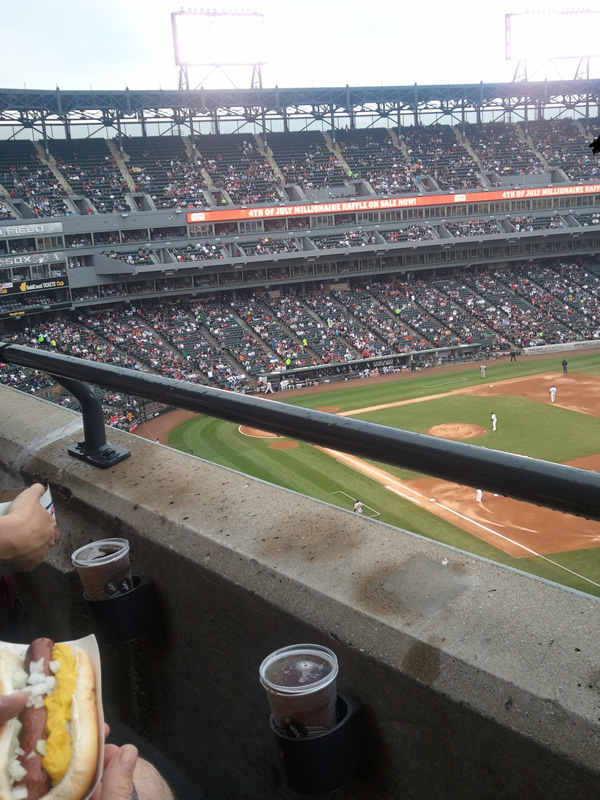 Seat View for Guaranteed Rate Field Section 516, Row 1, Seat 3