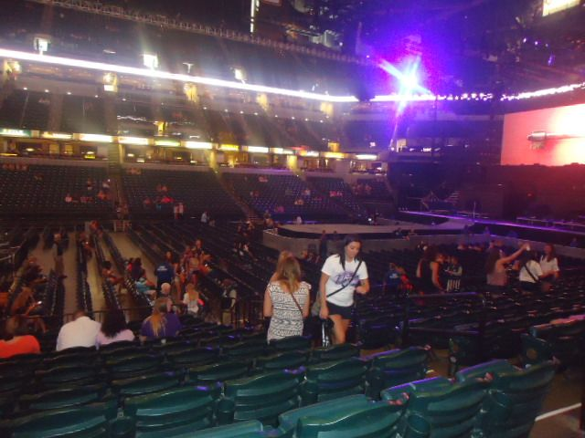 Concert Seat View for Bankers Life Fieldhouse Section 6, Row 17, Seat 5