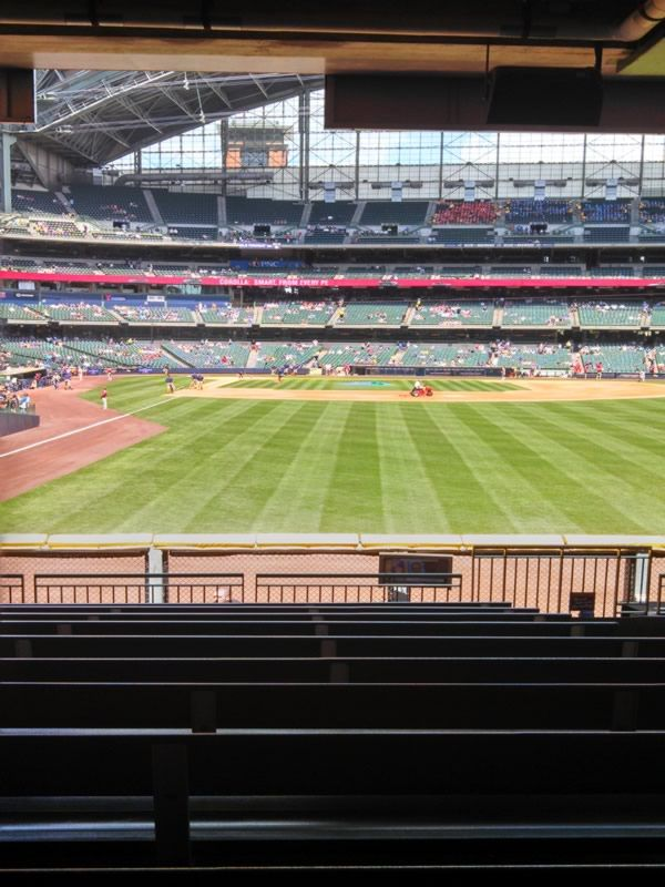 Seat View for Miller Park Section 104, Row 11, Seat 20