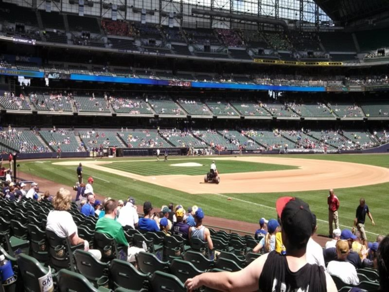 Seat View for Miller Park Section 109, Row 15, Seat 7
