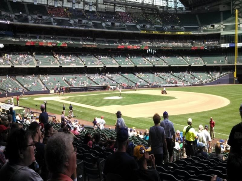 Seat View for Miller Park Section 109, Row 25, Seat 5