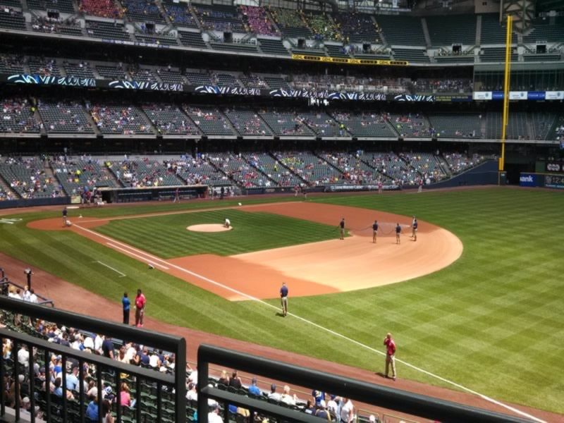 Seat View for Miller Park Section 209, Row 2, Seat 14
