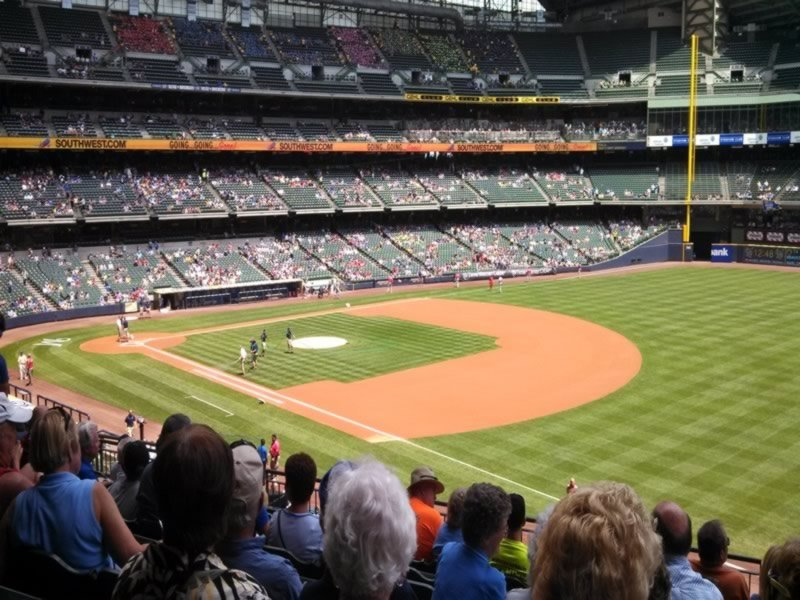 Seat View for Miller Park Section 209, Row 11, Seat 15