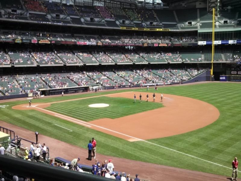Seat View for Miller Park Section 210, Row 1, Seat 21