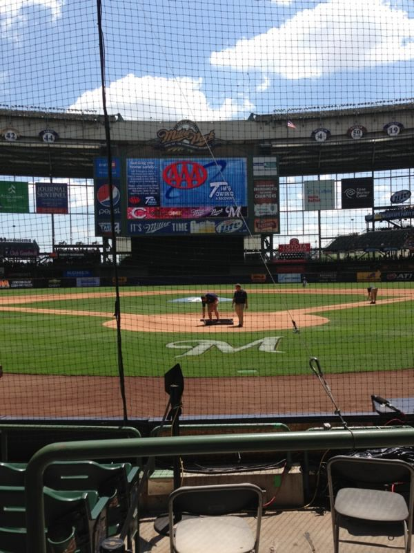 Seat View for Miller Park Section 118, Row 5, Seat 2