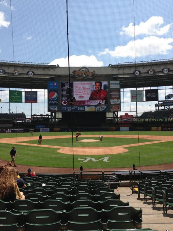 Seat View for Miller Park Section 118, Row 14, Seat 2
