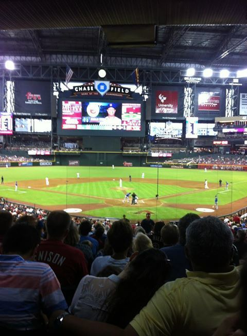 Arizona Diamondbacks Seat View for Chase Field Section 123