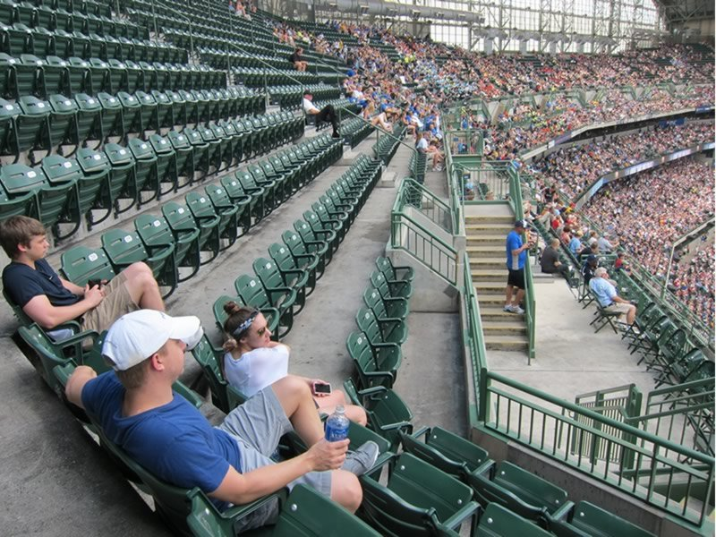 Fans Sitting Near Miller Park Section 404