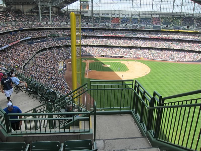 Seat View for Miller Park Section 404, Row 4, Seat 26