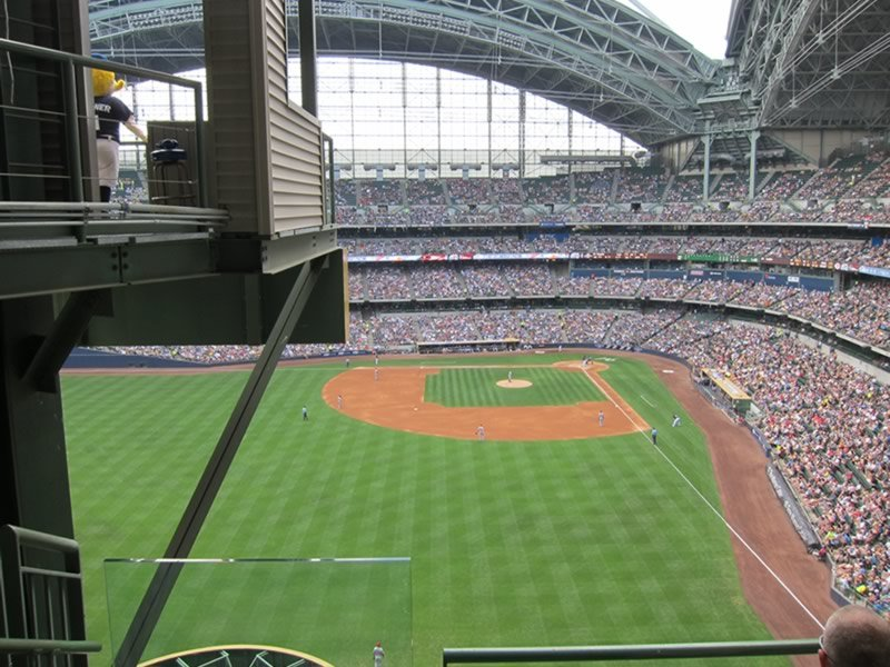Seat View for Miller Park Section 442, Row 3, Seat 24