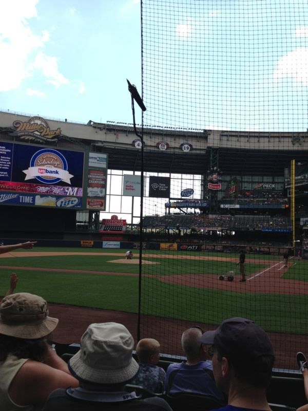 Seat View for Miller Park Section 119, Row 5, Seat 12