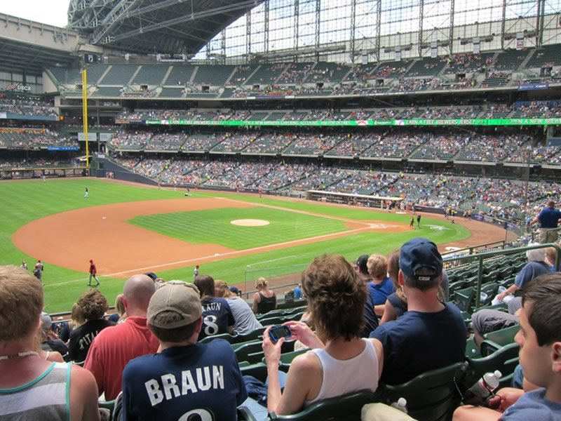 Seat View for Miller Park Section 227, Row 8, Seat 9
