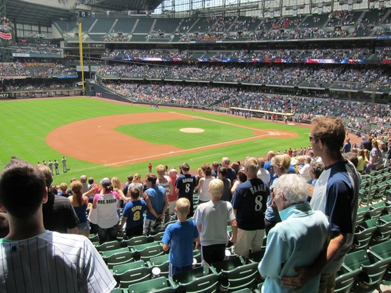 Seat View for Miller Park Section 227, Row 15, Seat 13