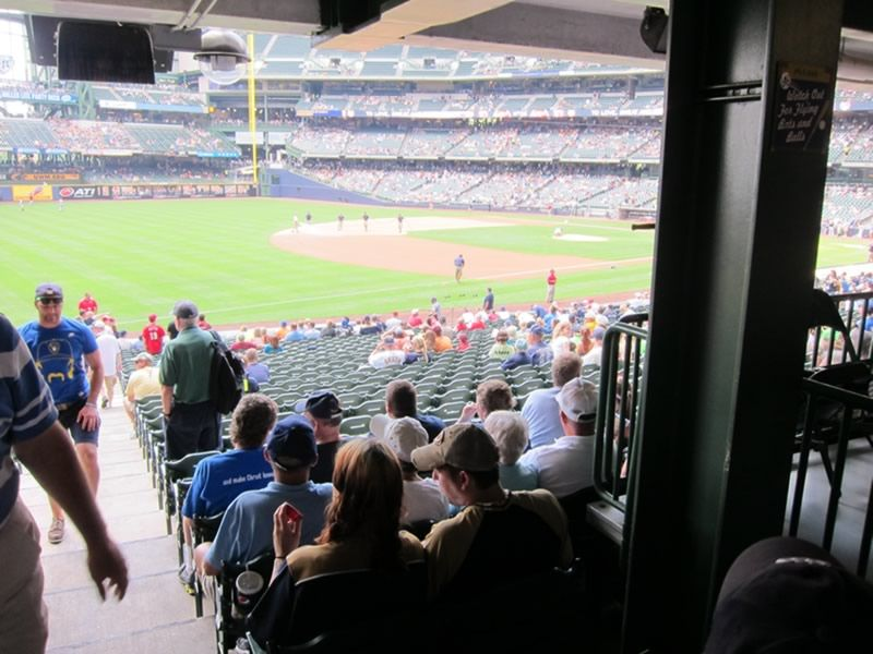 Seat View for Miller Park Section 126, Row 29, Seat 21