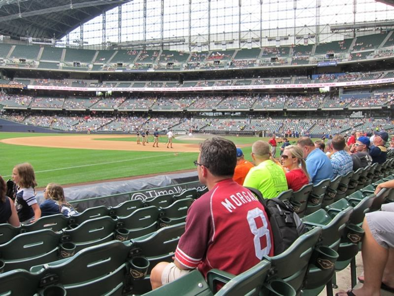 Seat View for Miller Park Section 126, Row 6, Seat 21