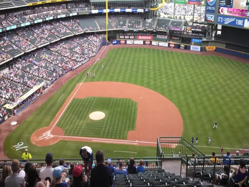 Seat View for Miller Park Section 415, Row 20, Seat 12