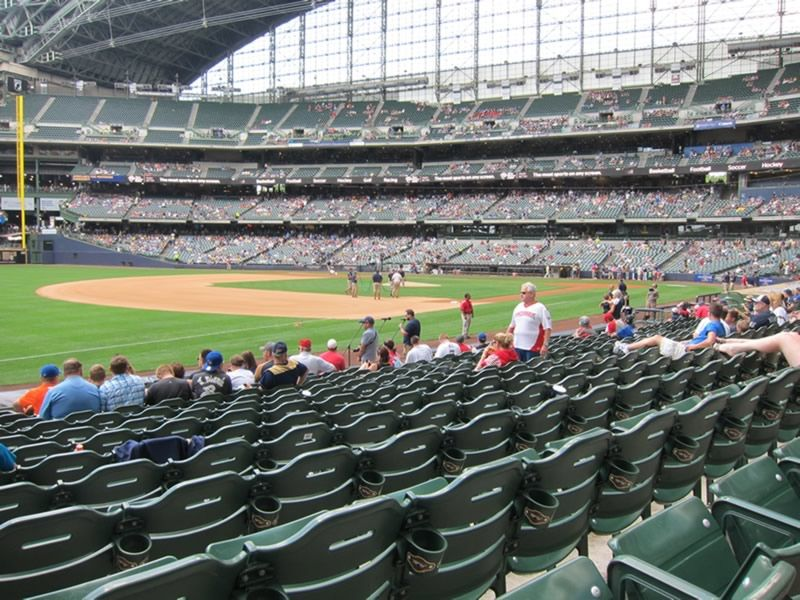 Seat View for Miller Park Section 126, Row 13, Seat 16