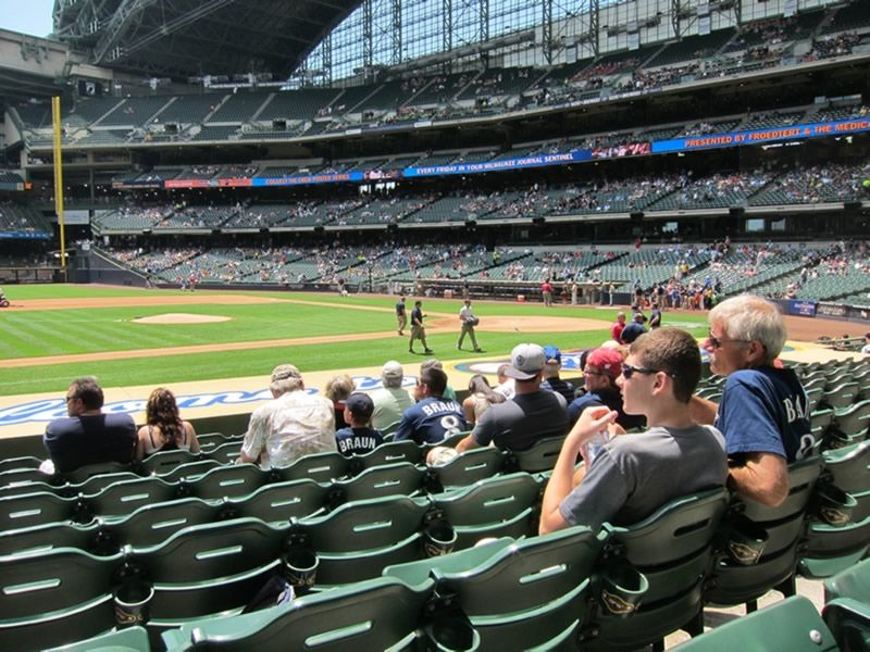 Seat View for Miller Park Section 122, Row 13, Seat 19