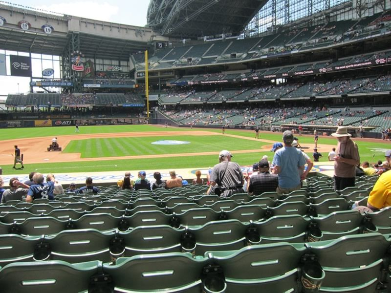 Seat View for Miller Park Section 122, Row 19, Seat 11
