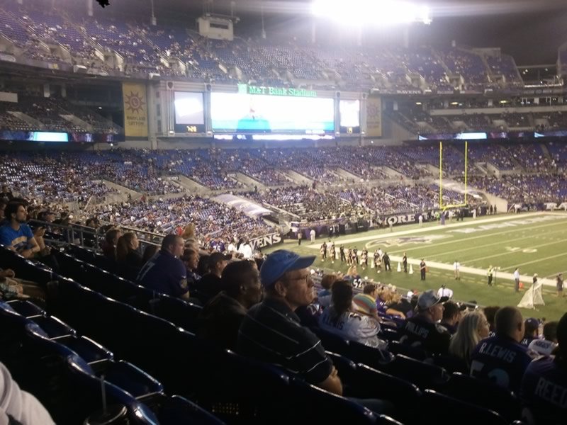 Seat View for M&T Bank Stadium Section 100, Row 33, Seat 1