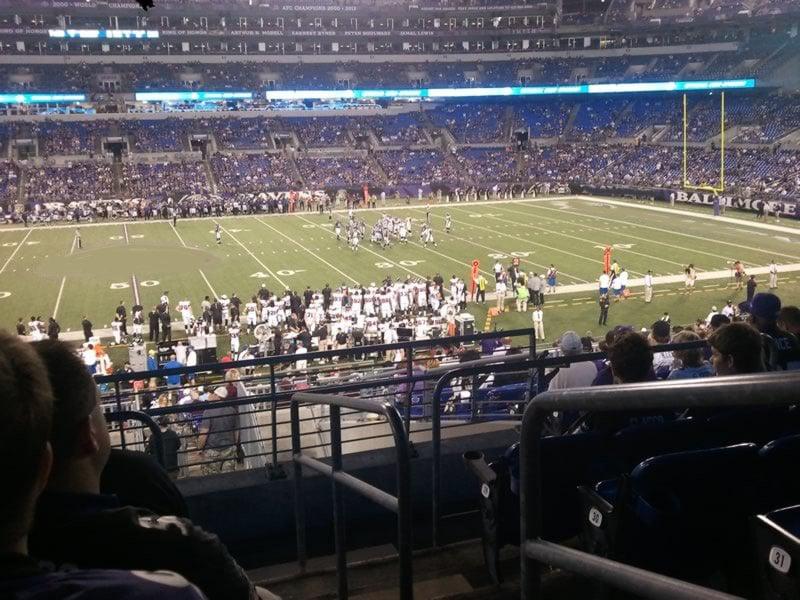 M Amp T Bank Stadium Section 100 Baltimore Ravens