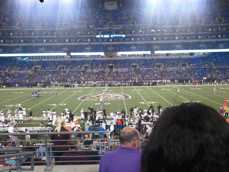 Seat View for M&T Bank Stadium Section 153, Row 23, Seat 13