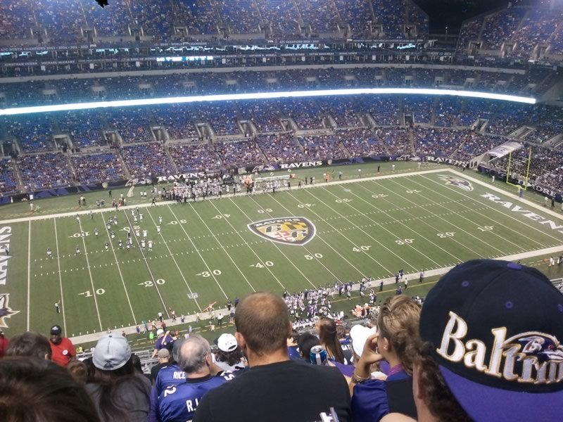 Seat View for M&T Bank Stadium Section 529, Row 14, Seat 21