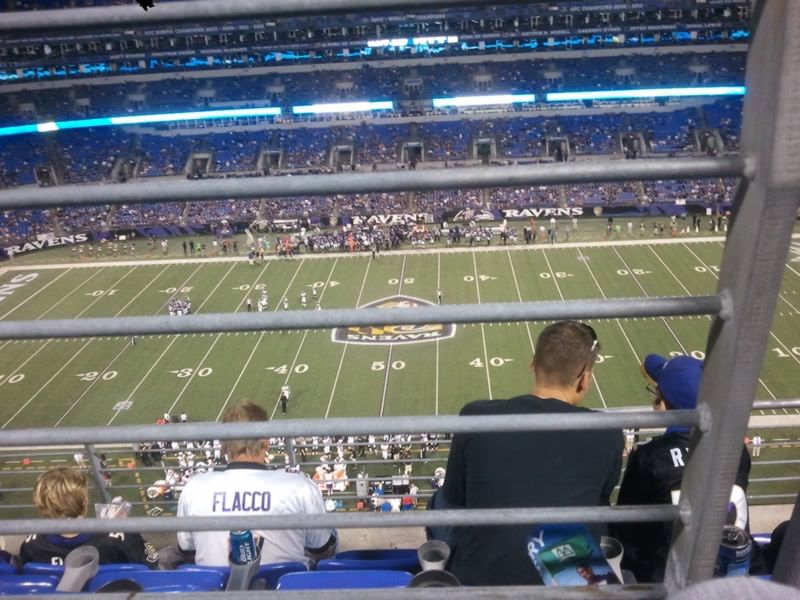Seat View for M&T Bank Stadium Section 553, Row 4, Seat 8