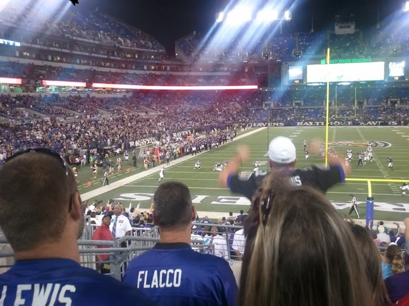 Seat View for M&T Bank Stadium Section 113, Row 26