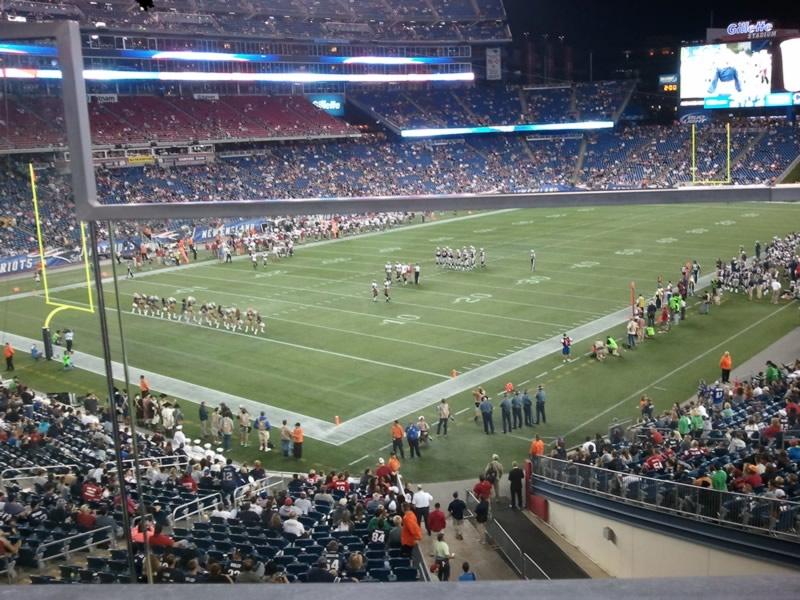 New England Patriots Seat View for Gillette Stadium Section 117, Row 34, Seat 2