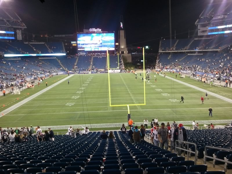 New England Patriots Seat View for Gillette Stadium Section 120, Row 33, Seat 5