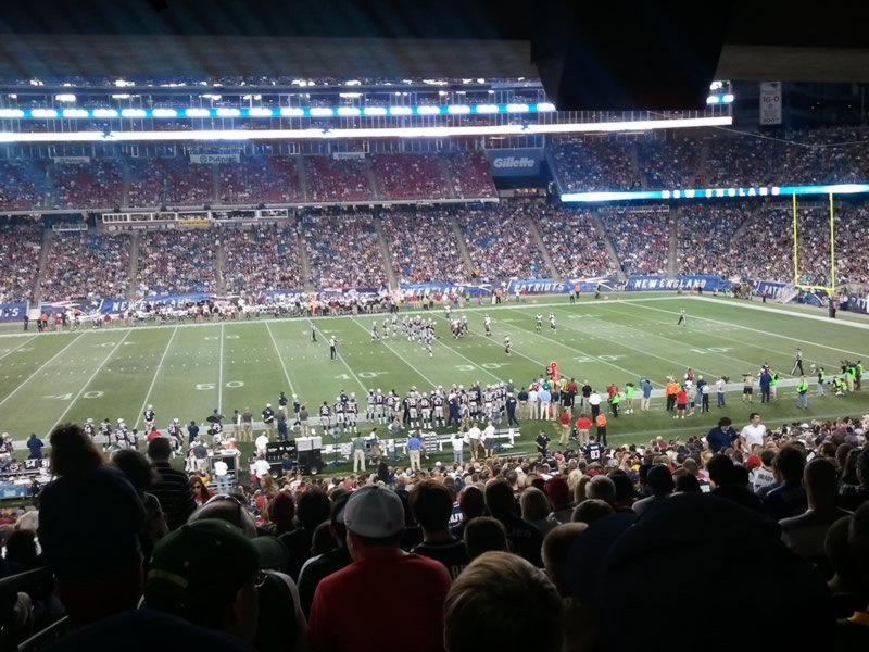 New England Patriots Seat View for Gillette Stadium Section 109, Row 38