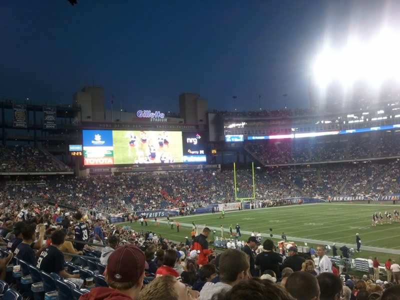 New England Patriots Seat View for Gillette Stadium Section 107, Row 25, Seat 4