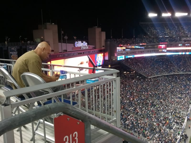 New England Patriots Seat View for Gillette Stadium Section 313, Row 7