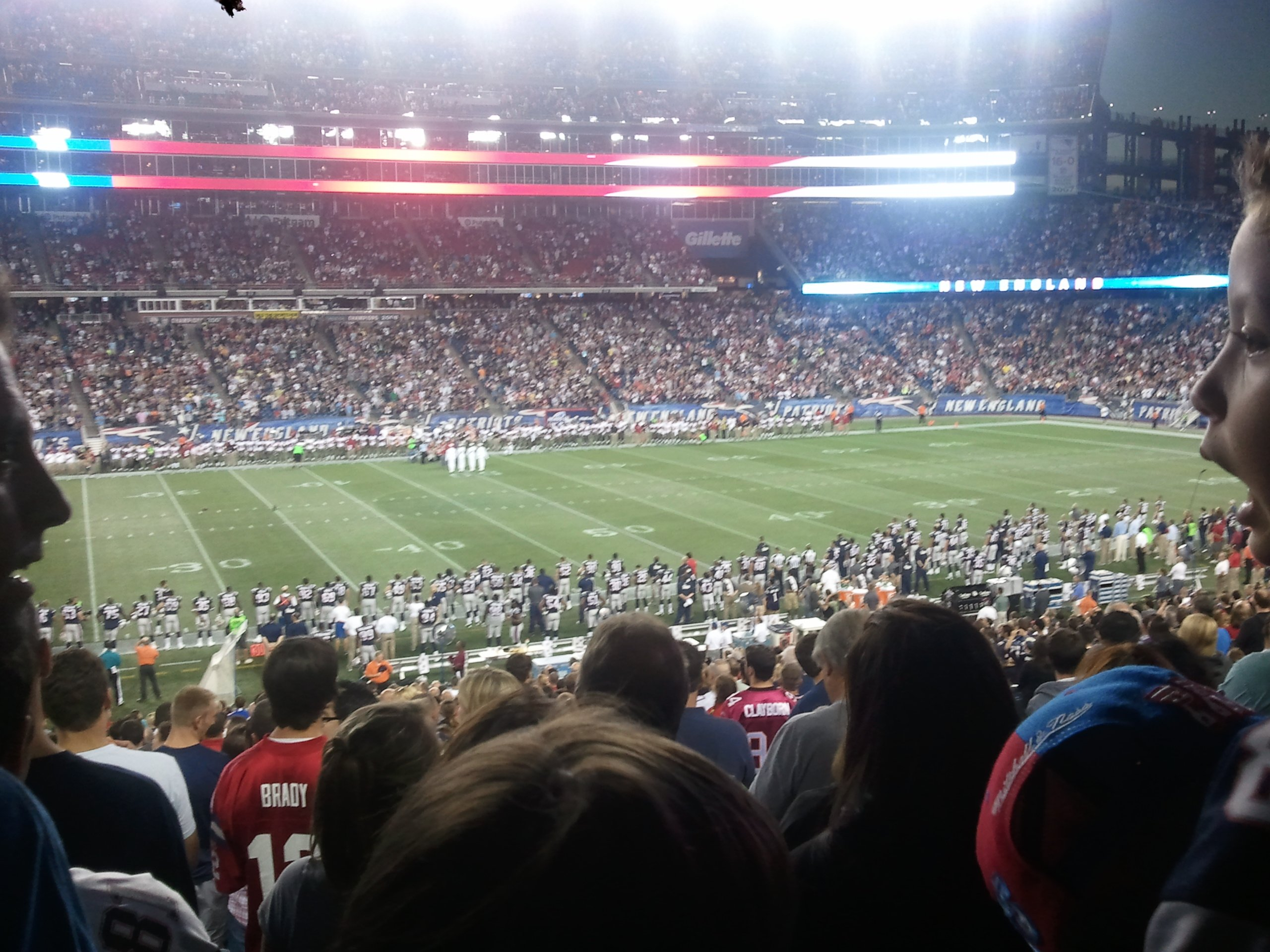New England Patriots Seat View for Gillette Stadium Section 112, Row 33