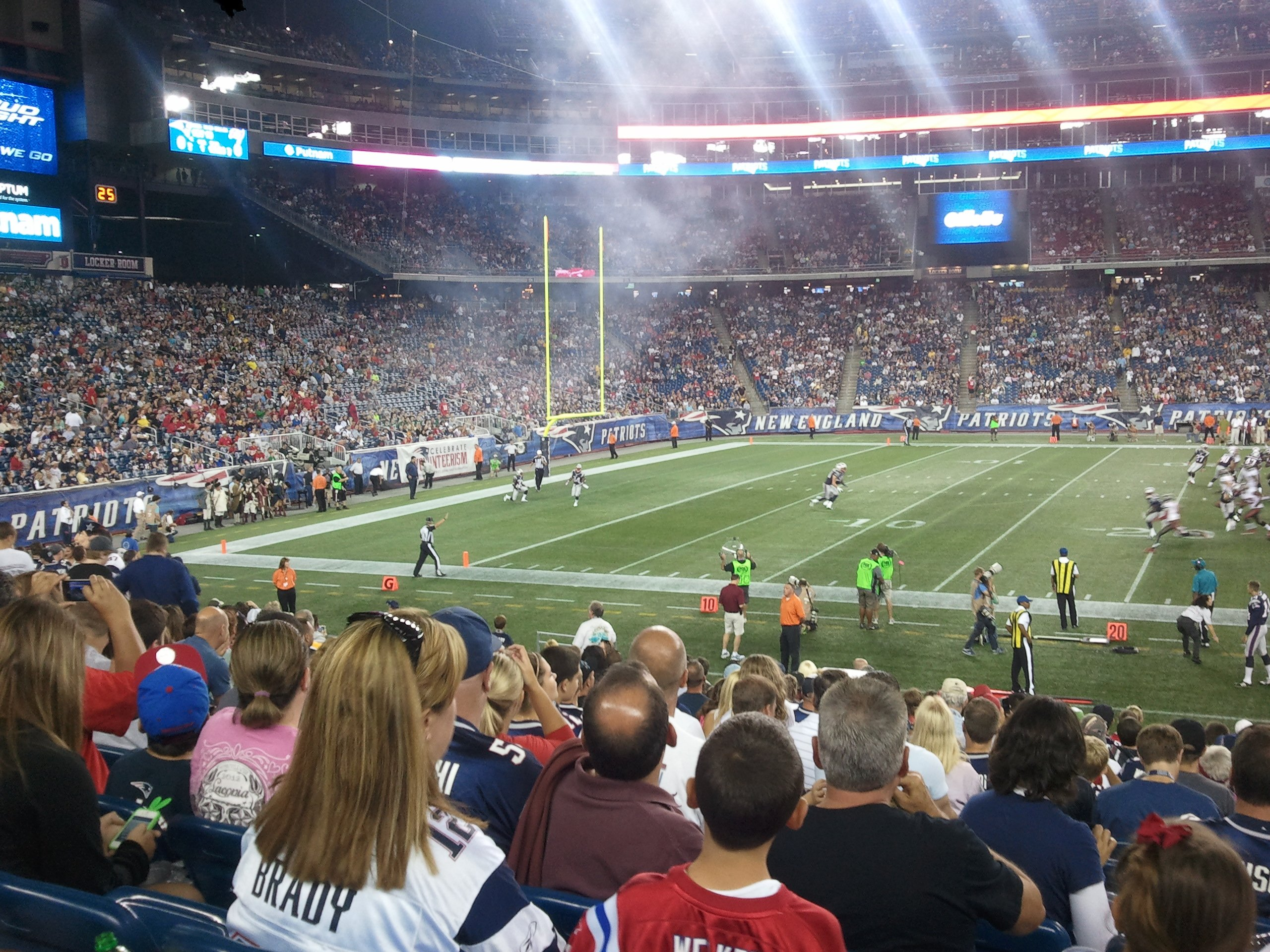 New England Patriots Seat View for Gillette Stadium Section 112, Row 18, Seat 1