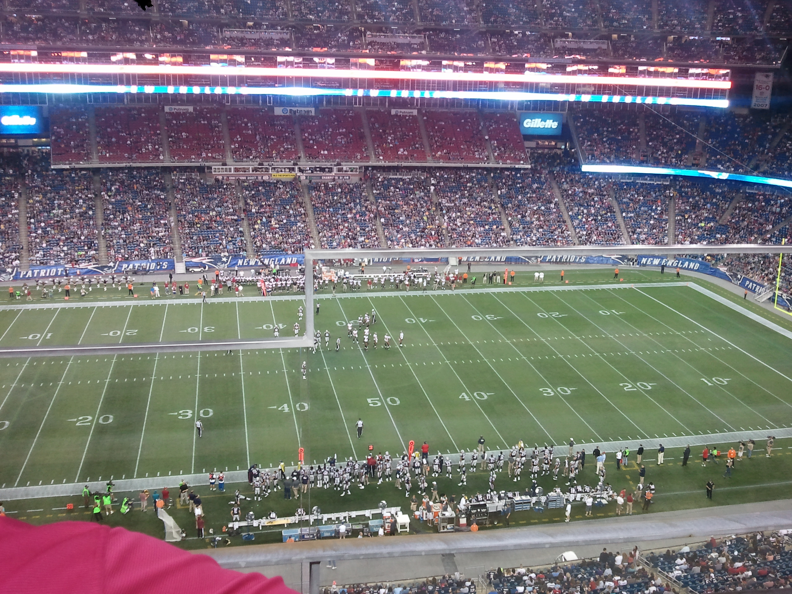 New England Patriots Seat View for Gillette Stadium Section 311, Row 2, Seat 1