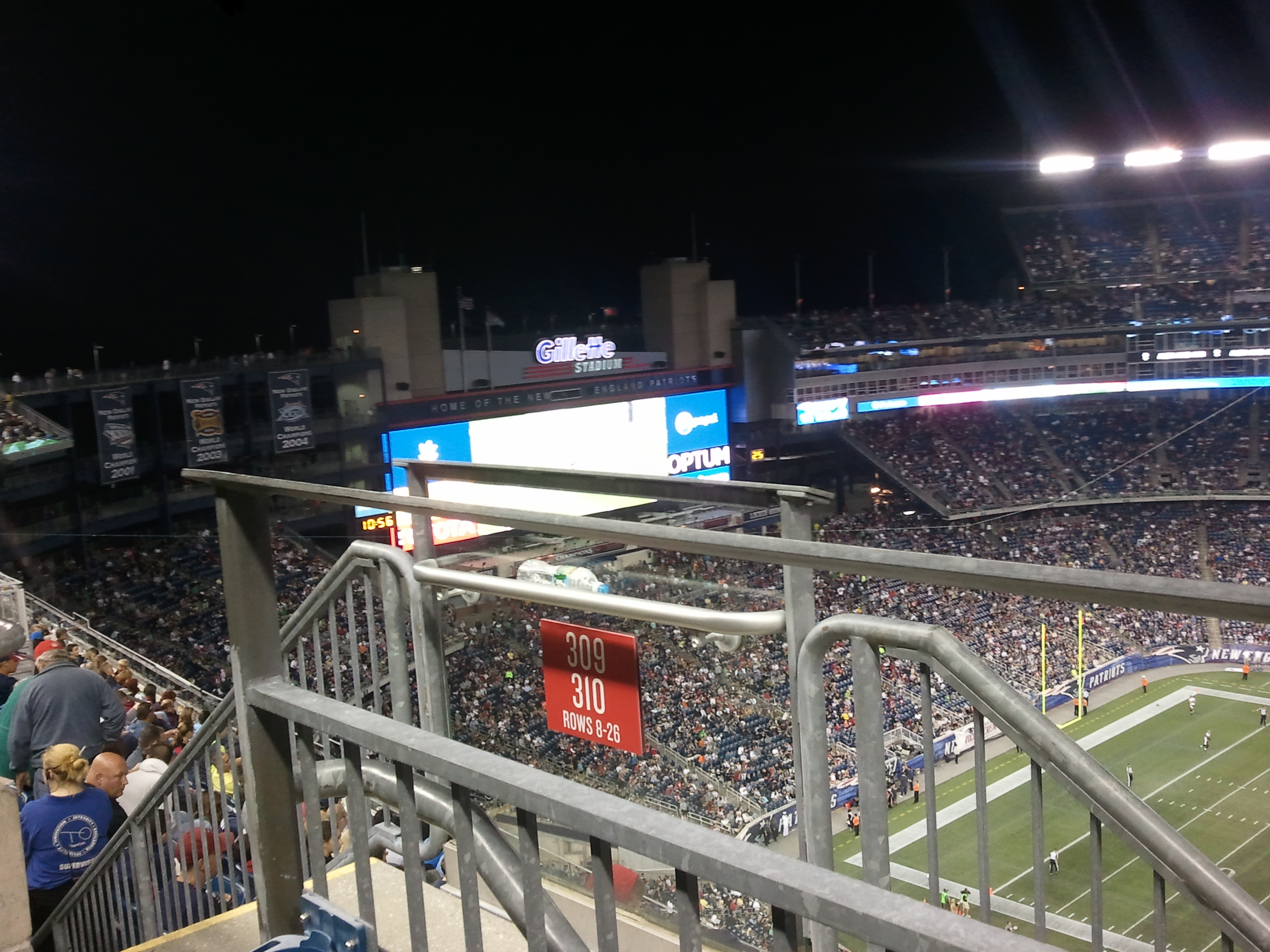 Section 310, Row 8