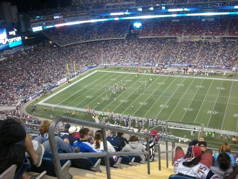 New England Patriots Seat View for Gillette Stadium Section 307, Row 16, Seat 23