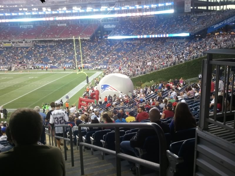 New England Patriots Seat View for Gillette Stadium Section 104, Row 37, Seat 1